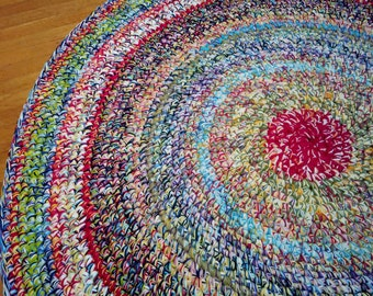 Large Custom Color Blast Area Rug/Crochet Round Rugs/Round Rugs/Rugs/Area Rugs/Area Rug/Kids Room Decor/Nursery Decor/Throw Rugs/Large Rugs