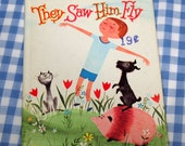 they saw him fly, vintage 1966 children's whitman tiny-tot tale book