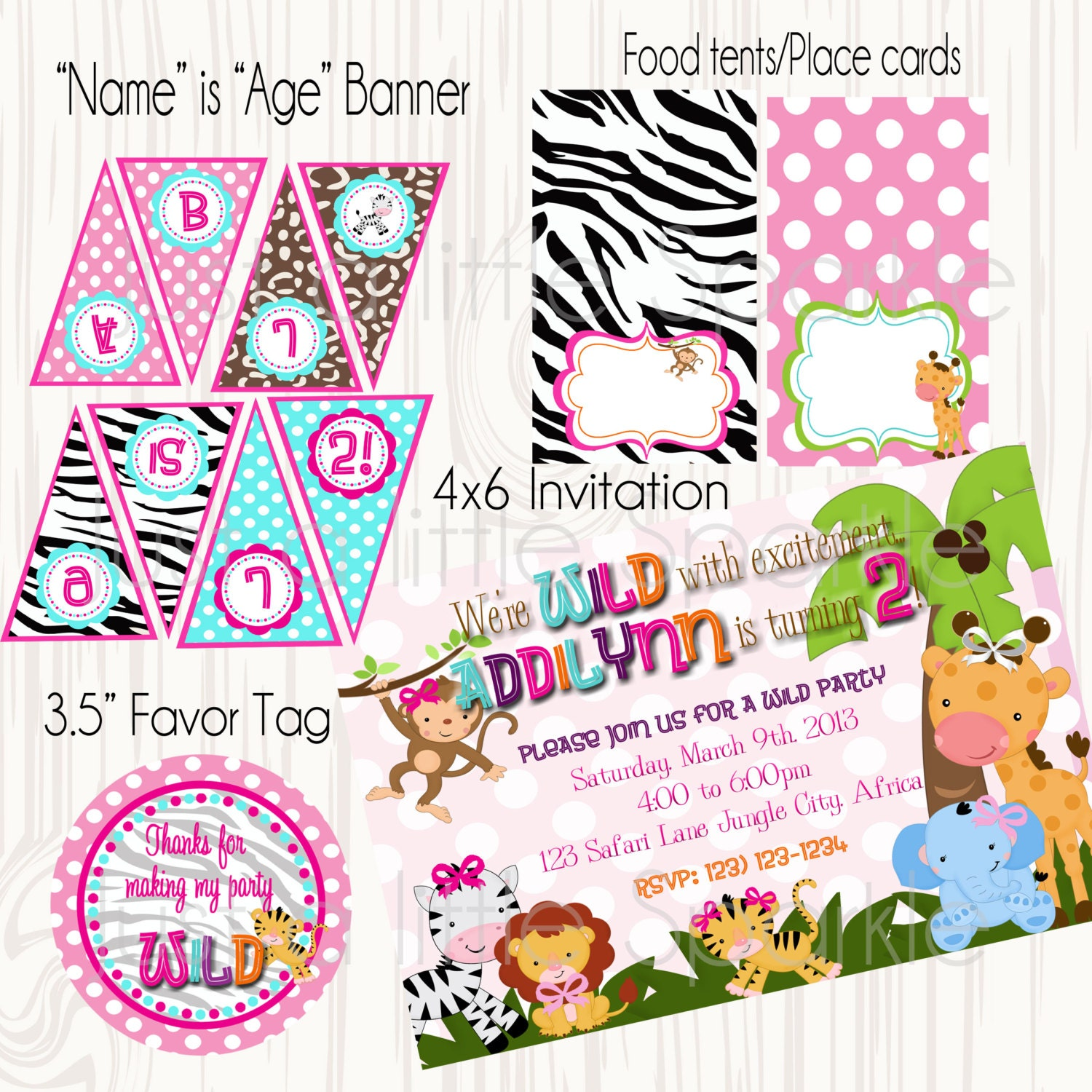 Safari Animal Party Package Printable Zoo By
