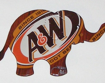 Elephant Magnet - A&W Root Beer Soda Can (Replica)