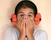 Pumpkin Ear Muffs - Headband - Fall Winter Fashion - Gift For Her - Women Teens Accessories