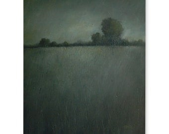 Large painting moody landscape 24 X 30 June Night