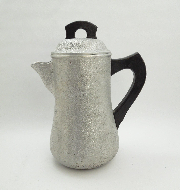 Century silver seal coffee pot vintage tone