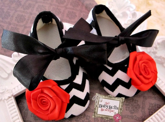 items similar to black and white chevron baby shoes
