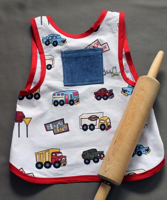 SALE Trucks Child's Apron