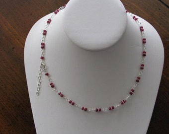 Simply Ruby Necklace