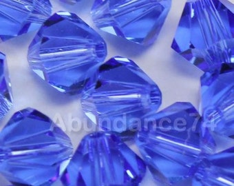 Swarovski Crystal Beads BICONE 5328 crystal beads SAPPHIRE - Available in 3mm, 4mm, 5mm, 6mm and 8mm