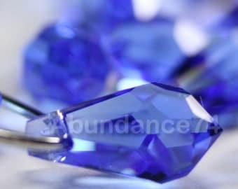 6pcs Swarovski Crystal 6000 15mm Teardrop Pendant Sapphire