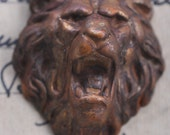 Growling Lion Stamping, Honey Patina - Supplies by CalliopesAttic