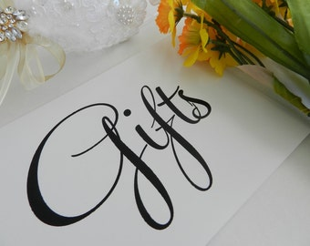 Wedding Reception - Gifts Sign