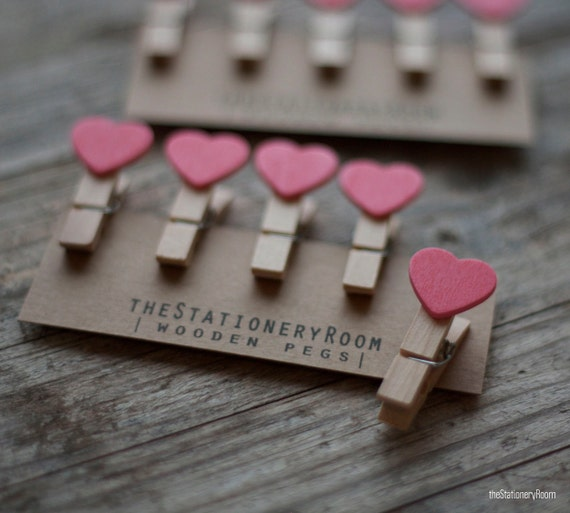 Mini Wooden Pink Heart Shape