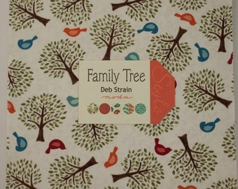 Family Tree Fabric Collection by Deb Strain for Moda Fabrics - 1 Layer Cake