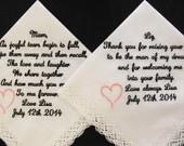Wedding Handkerchiefs emb...