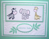 Jungle Animals Baby Card