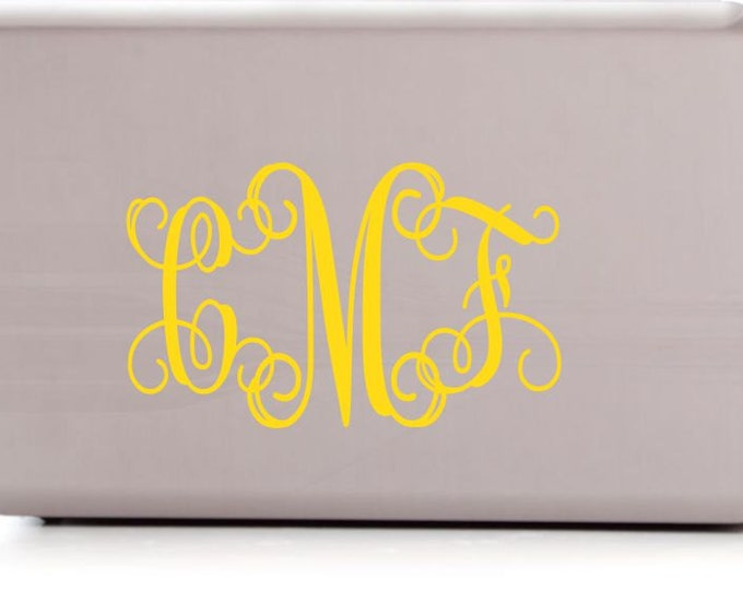 Monogram Sticker - Car Decal - Personalized monogram for laptop, phone, car