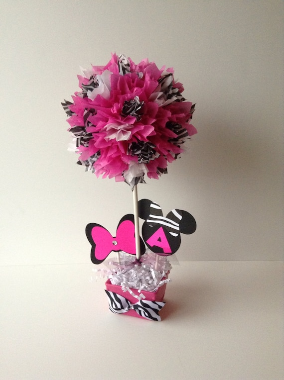Minnie Mouse birthday party decoration, centerpiece, centerpieces