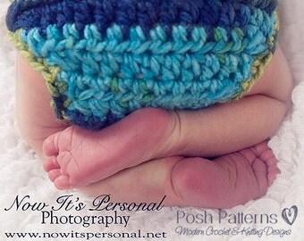 Crochet PATTERN - Diaper Cover Pattern - Baby Crochet Patterns - Crochet Patterns - Button Up Soaker - Newborn - PDF 153