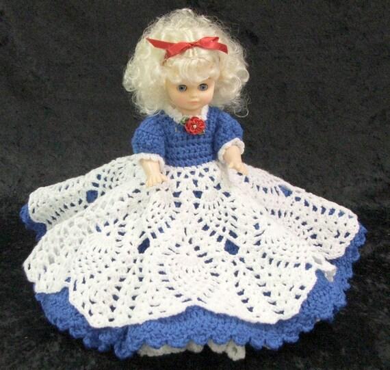 Easy Crochet Doll Skirt Pattern : PDF Crochet Bed Doll Pattern. 1 FAITH Sweetheart Doll Series.