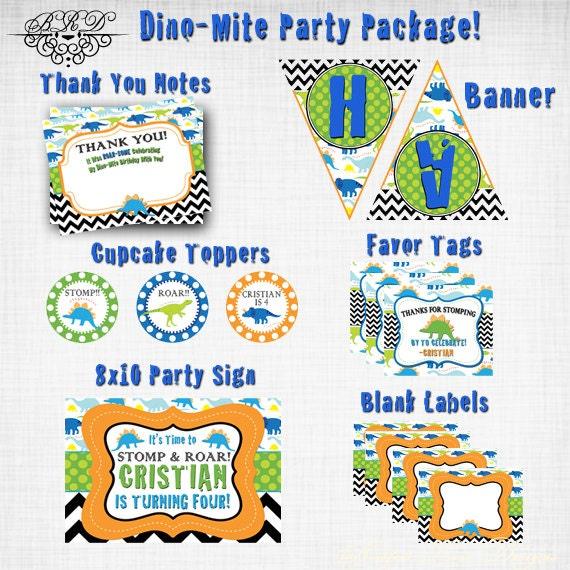 Dinosaur Party Package Dinosaur Birthday Party Dino Dig