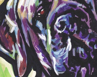 brindle English Mastiff  portrait art print modern Dog pop dog art bright colors 8.5x11