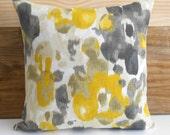 Decorative pillow cover, DwellStudio,  citrine yellow gold watercolor floral pillow