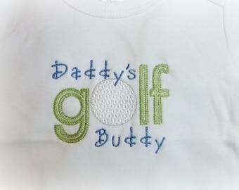 Personalized Monogrammed  Children's Clothing,Golf Shirt, Boy's Golf one piece, Daddy's Golf Buddy