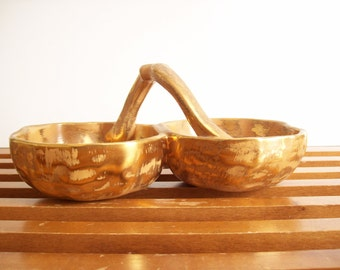 Stangl Pottery Grenada Gold Double Dish