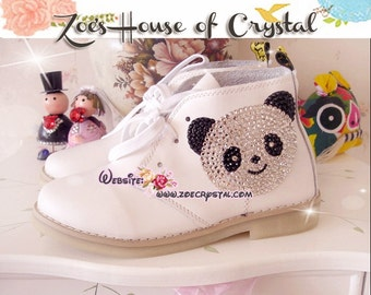 Marten Boots with shinning CRYSTAL PANDA