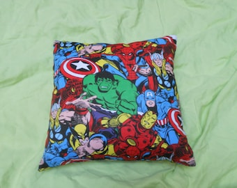 "Superhero or SciFi Throw Pillow - 12"" x 12"""