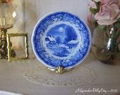 Blue Winter's Eve Dollhouse Plate