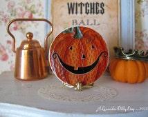 Jack O Lantern Dollhouse Halloween Plate