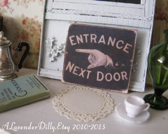 Entrance Sign for Dollhouse