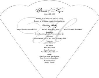 SET OF 25+ Simple Monogram Design Wedding Fan custom colors available