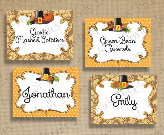 Thanksgiving Tent Cards Place Cards Place Card Holders