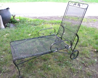 Popular items for vintage patio chairs on etsy - Chaise metal vintage ...