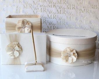 Wedding Card box, Program box, guest book and pen set