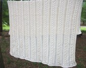 Do not buy unless you are SFC - Vintage hand Cable knit Crochet Afghan Blanket