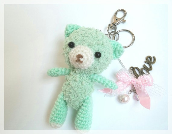 Amigurumi bear keychain OOAK ready to ship. by thujashop ...