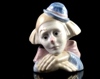 Vintage Clown Figurine - Porcelain Clown Figurine - Meico Collectible Clown Figurine - Collectible Clown Home Decor - Vintage Clown Decor