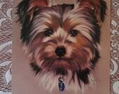 5x7 Animal Art Print | Hand-painted Yorkshire Terrier Digital Painting | Dog Portrait | Canine Art | Pet Portrait