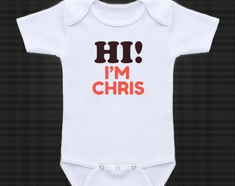 Hi! I'm My Name custom - cute funny baby one piece, Infant Tee, Toddler T-Shirts baby gift under 20