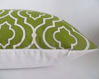 2 Pillow Cover -20x20 Dwell Studio Pillow Covers - PIllow Covers White Green Pillow Cover - Pillow Cover - Lime Green Pillow Cover