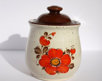Speckled stoneware pot - Made in Japan