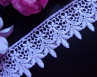 Venise Lace trim, 2+1/4 inch-white-1yard