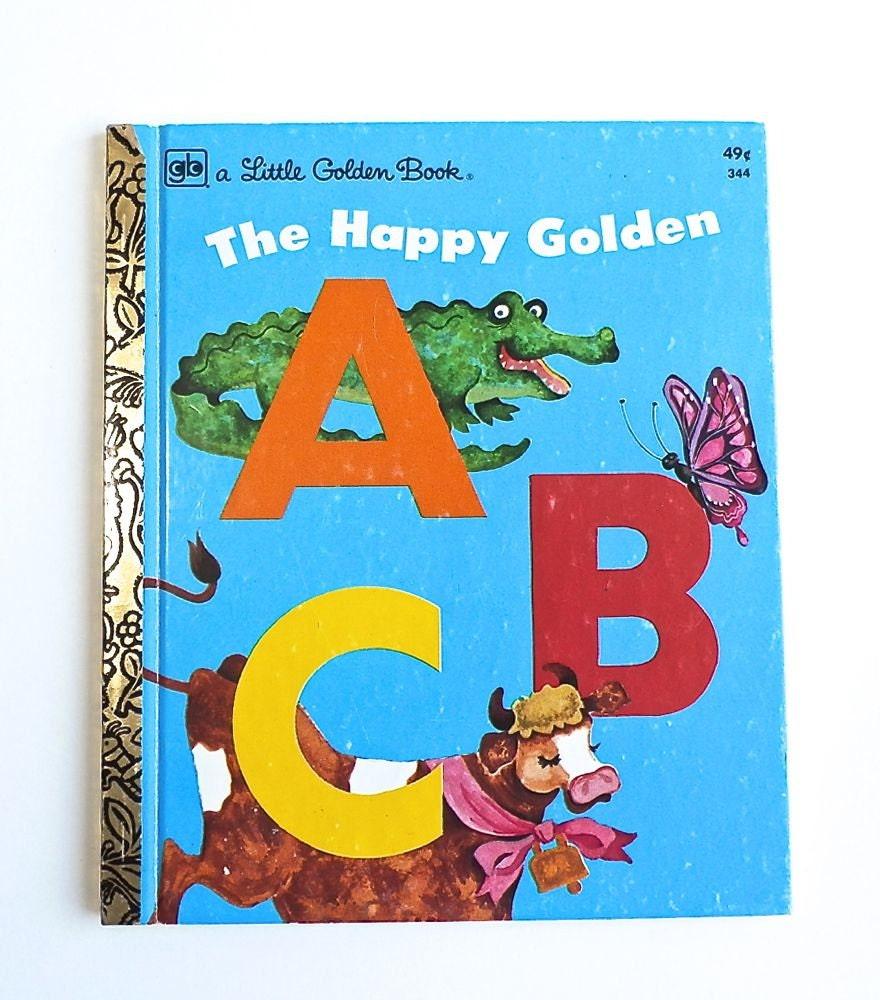 Vintage Little Golden Book ABC's Alphabet Back To