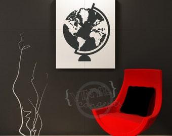 Globe Silhouette - Vinyl Wall Art