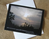 You Pick 1 Blank Greeting Card with Scripture and Beautiful Photography