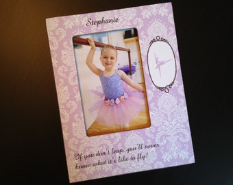 Personalized Ballet Gift Recital Photo Frame Ballerina Gift Dancer Gift Dance Keepsake Frame Wood 4x6 Picture Frame Custom Ballet Frame