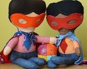 Rag Doll Superhero - handmade - Dolls and Daydreams