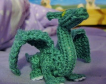 Craft Your Own Palm-Sized Dragon (knit and crochet pattern)